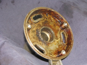 Worn bearing housing