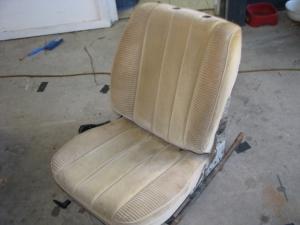 One nice velour seat