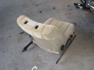 rear of velour seat